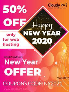 Cloudy24 Wishing you a very Happy New Year 2021 || 40-50% Discount on monthly hosting || Coupon Code: NY2021 -- Wishing you peace and love and laughter for the New Year! -- #hosting #cloudy24 #webHosting #aws #secure #SSL #WordPress #wordpressHosting #awshostingsecurity #cloudy24India #newyear #newyear2021 #2021 #january #jan #holidays #celebrate #celebration #birthdays #party #newmonth #year #newyearseve -- ,hosting ,cloudy24 ,webHosting ,aws ,secure ,SSL ,WordPress ,wordpressHosting New Year Offers, New Month, Coupon Codes, Peace And Love, Happy New Year, Wish, Coupons, Laughter, Celebration
