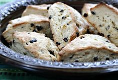 Currant cardamom scones, from The Perfect Pantry. 8PP each for 8, 4 for 16 (using light sour cream)