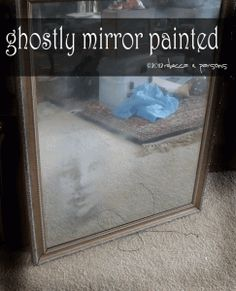 DIY Realistic haunted mirror, photoshop, krylon looking glass paint