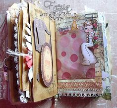 Journal Art designed by Frezja for Little Blue Button Stamps Design Team.