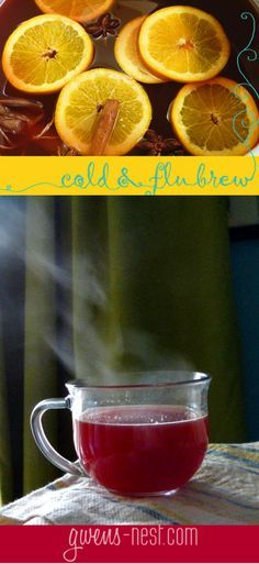 My favorite cold remedy: this TASTY Cold & Flu Brew recipe! Natural remedies, wellness