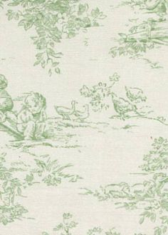 Central Park Toile green by Peter Kaufmann @ House Fabric 15.95