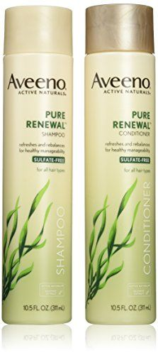 Introducing Aveeno Active Naturals Pure Renewal Shampoo and Conditioner Set 105 Fluid Ounce each. Get Your Ladies Products Here and follow us for more updates!
