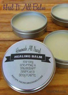 Heal It All Balm - DIY All Natural body balm for dry skin, chapped lips, diaper rash and much, much more!