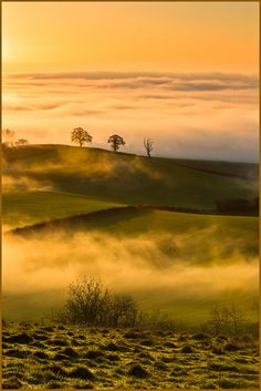 Sunrise.., The Vale of Pewsey, from Martinsell Hill, Wiltshire, England