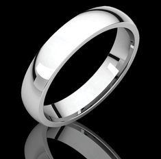 4MM Heavy Comfort Fit Platinum Wedding Band