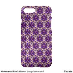 Abstract Gold Pink Flowers iPhone 7 Plus Case