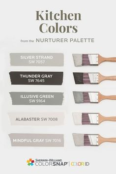 Farmhouse Paint Colors, Kitchen Paint Colors, Interior Paint Colors, Paint Colors For Home, Kitchen Color Trends, Room Colors, Wall Colors, House Colors, Home Reno