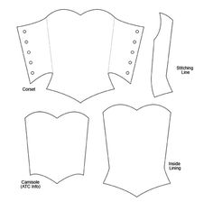 Corset ATC Template - Shared by ATC_World member Valerie of -- Please… Diy Barbie Clothes, Sewing Doll Clothes, Sewing Dolls, Doll Clothes Patterns, Clothing Patterns, Diy Clothes, Barbie Patterns, Dress Sewing Patterns, Corset Invitations