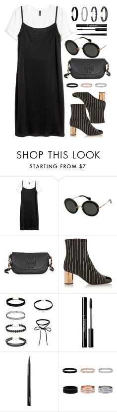 """""""Unknown"""" by smartbuyglasses-uk ❤ liked on Polyvore featuring Miu Miu, Tory Burch, Marco de Vincenzo, MAC Cosmetics, white and black"""