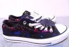 "Women's Size 9 Canvas Converse Athletic/Tennis Shoes ""Graffiti"" sticker print…"