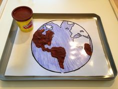 Land and water-montessori. Could also do this with the continet map with different colors of play dough. Geography Activities, Geography For Kids, Teaching Geography, World Geography, Learning Activities, Kids Learning, Montessori Practical Life, Montessori Preschool, Preschool Crafts