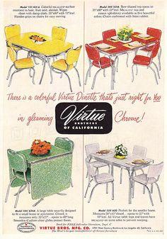 1952 Virtue Bros Chrome Dinettes by hmdavid, via Flickr