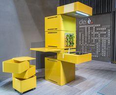 Mini kitchen - CONCEPT ECOOKING - CONCEPT BY CLEI   DESIGN MASSIMO FACCHINETTI