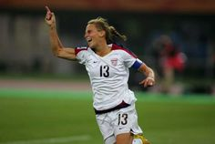 Kristine Lilly...such a wonderful inspiration for my young daugher!