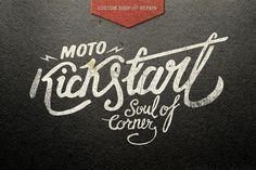 Moto Kickstart Logo Alex Ramon Mas Design www.alexramonmas.com