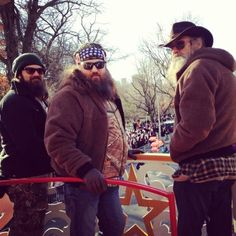 Jep, Willie and Si @ Macy's Thanksgiving day parade