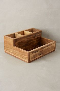 Reclaimed Wood Catchall / anthropologie.com More