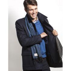 Vedoneire Pea Coat 50% Wool - Navy