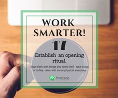 Work Smarter Tuesday Tip!  #WorkSmarter #TimeManagement #Productivity