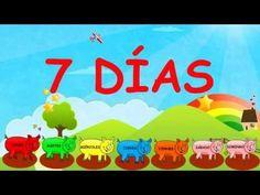 Canción infantil Los días de la semana - The days of the week en español - YouTube Spanish Activities, Preschool Activities, Transitional Kindergarten, Spanish Class, Montessori, Youtube, Classroom, Songs, Day