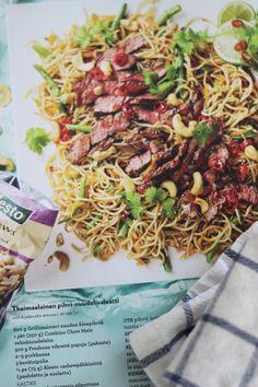 LA PETITE PRINCESSE: Thaimaalainen pihvi-nuudelisalaatti