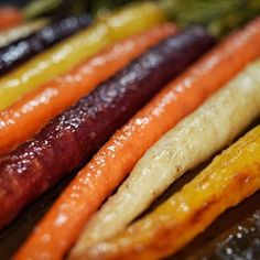 Maple Ginger Glazed Rainbow Carrots