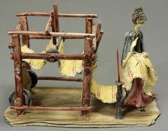 SCULPTURE LO SCRICCIOLO TONI MORETTO WEBERIN FIGUR ITALIEN FRAU ART ITALY KUNST | eBay
