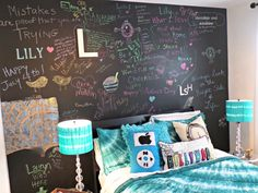 Have you had the opportunity to use chalkboard paint in one of your kids rooms yet? My almost 13 year old daughter's bed room has gone through a few transformations, due to moves and changing interests. I really loved her space when I painted the red Craigslist bunk beds white and updated her bedroom as …