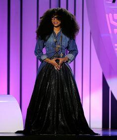 "soph-okonedo: "" Erykah Badu speaks onstage during the 2015 Soul Train Music Awards at the Orleans Arena on November 6, 2015 in Las Vegas, Nevada """