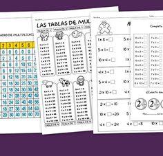 Recursos para el maestro: Fichas para repasar las tablas de multiplicar y las multiplicaciones