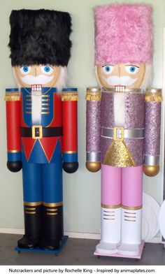 Giant nutcracker made by Rochelle in New Zealand inspired by the book from Animaplates. Make your own : https://animaplates.com/v/giantnutcracker #GiantNutCracker #NutCracker #MakeYourOwn