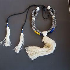 Rope Statement Necklace Tassel Necklace, Tassels, Jewelry, Fashion, Moda, Jewlery, Jewerly, Fashion Styles, Schmuck