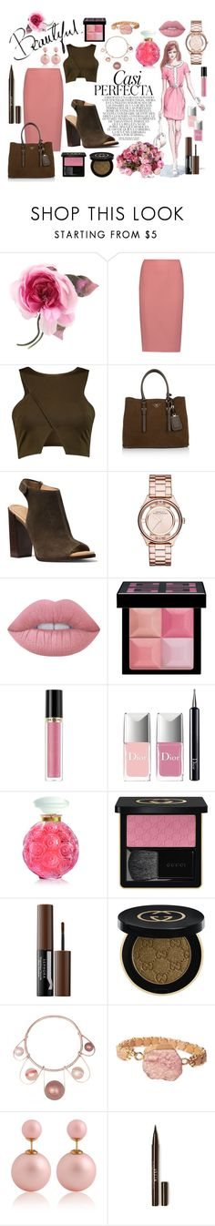 """""""Casi Perfecta"""" by classicstyle4u ❤ liked on Polyvore featuring Gucci, Whiteley, GE, Elizabeth and James, Prada, Michael Kors, Marc Jacobs, Lime Crime, Givenchy and Revlon"""