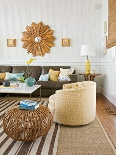freshen up your old brown sofa...