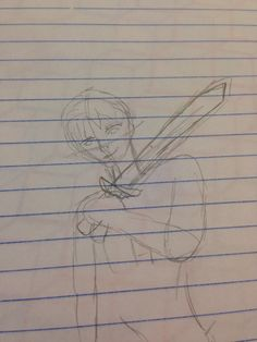 Percy Jackson rough sketch for a project