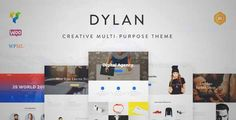 Download and review of Dylan - Responsive Multi-Purpose WordPress Theme, one of the best Themeforest Creatives themes