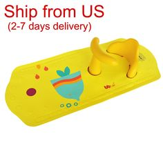 High Quality Baby Bath Seat, multiple suction cups bathing tub with ring support