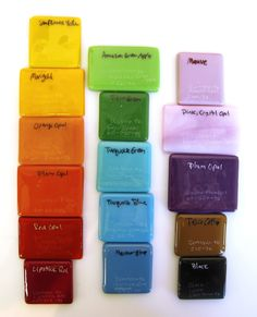 Good idea to keep track of glass colors and names.