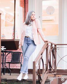 Instagram Blog, Duster Coat, Jackets, Dresses, Fashion, Grey Hairstyle, Feeling Alone, Brazil, Down Jackets