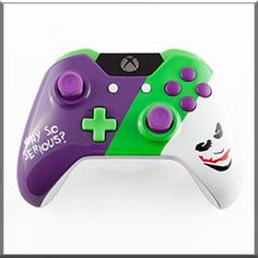 Joker Themed Xbox One- http://www.gamermodz.com/joker-themed-custom-xbox-one-controller
