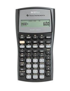 Texas Instruments BA II Plus Financial Calculator - http://www.newofficestore.com/texas-instruments-ba-ii-plus-financial-calculator/