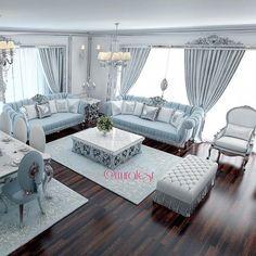 muhtesem-turkuaz-oturma-odasi-modelleri · Dekorasyon, Ev Dekorasyonu, Ev Tasarımı Döşemesi   Dekorasyon, Ev Dekorasyonu, Ev Tasarımı Döşemesi