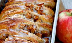 From a breakfast bread to an easy dessert, this glazed pull-apart cinnamon and apple bread can be made with your favorite biscuit dough recipe.