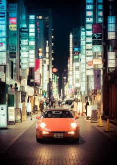 A Porsche on the streets of Ginza, Tokyo | Trey Ratcliff