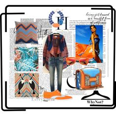 """""""WhyNot? Blue & Orange"""" by fashionwhynot on Polyvore"""
