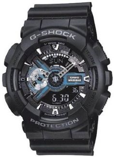 G-Shock X-Large Combination Watch-Military Black