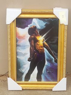 "A powerful and inspirational image from Kevin ""WAK Williams. Framed this work of art for one of our customers. Joshua 1:9 Be strong and courageous; do not be frightened or dismayed, for the Lord your God is with you wherever you go. #blackart #church #christianity..."