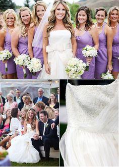 bridesmaids in lilac