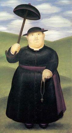 Pintura de Fernando Botero, famoso pintor Colombiano.
